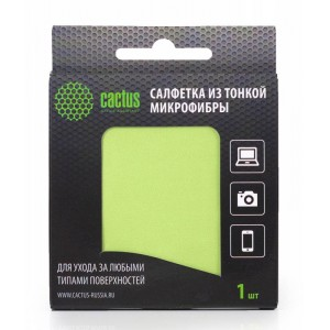 Салфетки Cactus CS-MF01 Микрофибра для деликатного ухода за любыми типами поверхностей, 18x18 см