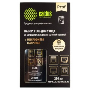 Чистящий набор (салфетки + гель) Cactus CSP-S3004B коробка 2шт 25х25см 18х18см 250мл