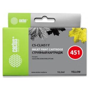 Картридж Cactus CS-CLI451Y