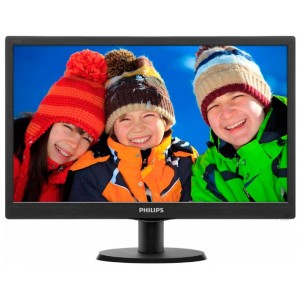 "Монитор 18.5"" Philips 193V5LSB2 (10/62), черный"