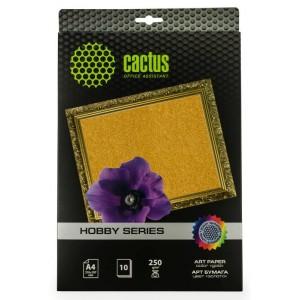 Фотобумага Cactus CS-DA425010G A4/250г/м2/10л./золото для струйной печати