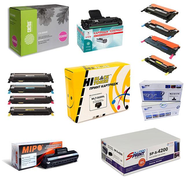 В нашем магазине картриджей представлены комплектующие производителей картриджей Colortek, NV-Print, Cactus, ProfiLine, Samsung, Kyocera, Xerox, Brother, Canon, Sharp, Panasonic, Toshiba, Oki, Hewlett Packard, Lexmark, Ricoh, Konica Minolta